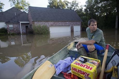 Flooding in Prairieville, Louisiana, August 2016 (AP Photo/Max Becherer)