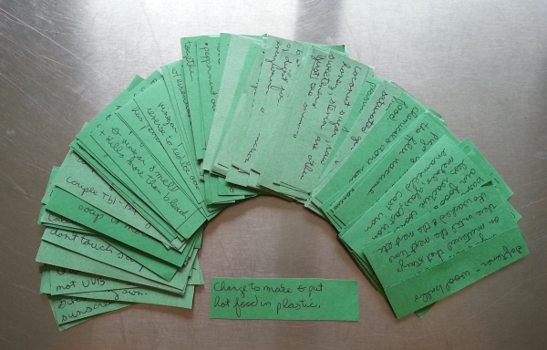Amy's Green Challenge Cards